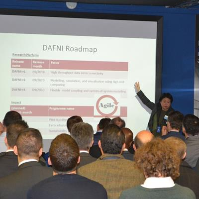 ​​​​​​​Erica Yang (SCD) introduces the DAFNI Roadmap at a stakeholders engagement event