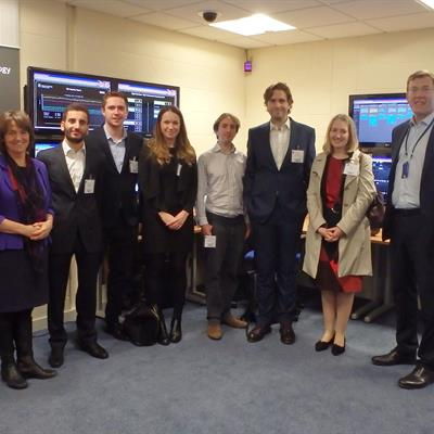 ​​​​​​​​​​​Government officials with STFC colleagues in the RAL data centre