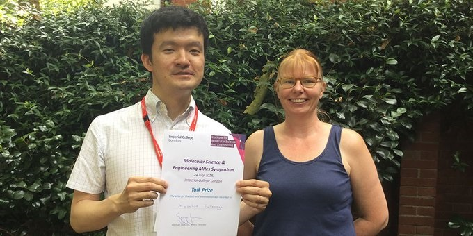 Masahiro Takenaga with Dr Patricia Hunt, Imperial College..jpg