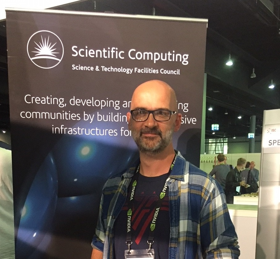 Jon Roddom at the STFC booth at ISC 2018