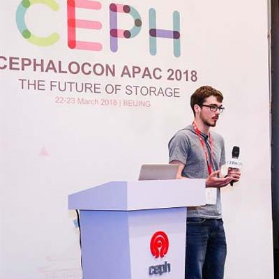 Tom Byrne speaking at the Cephalocon APAC 2018​ Conference in Beijing.