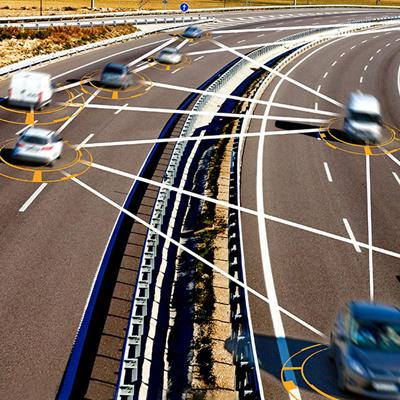Autonomous cars relaying information to each other
